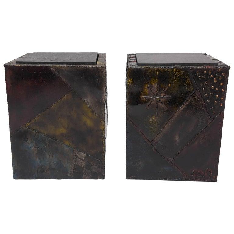Paul Evans Welded Metal Cubes