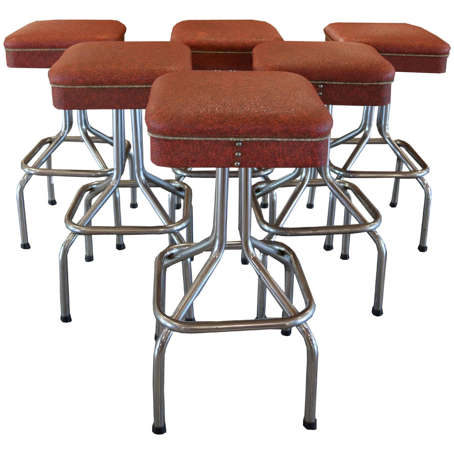 Set Of Six Bar Stools For Sale At 1stdibs