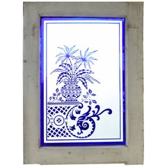 Acid Etched and Stained Glass Window