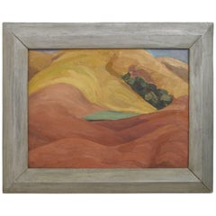 California Abstract Landscape Painting by Ruth Armer