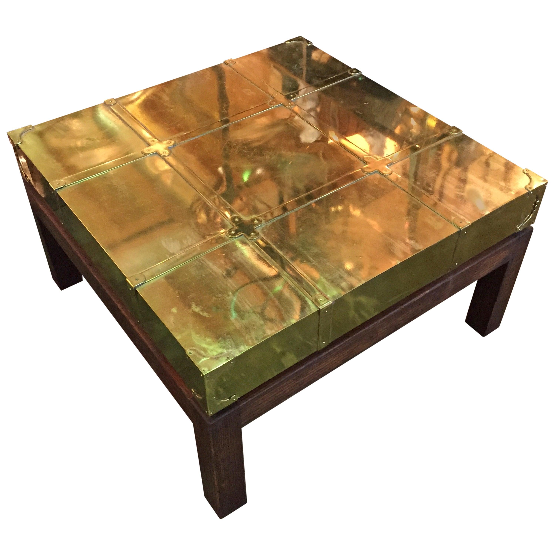Brass Coffee Table by Sarreid Ltd. of Spain