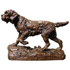 French 19th Century Bronze Sculpture of an Irish Setter