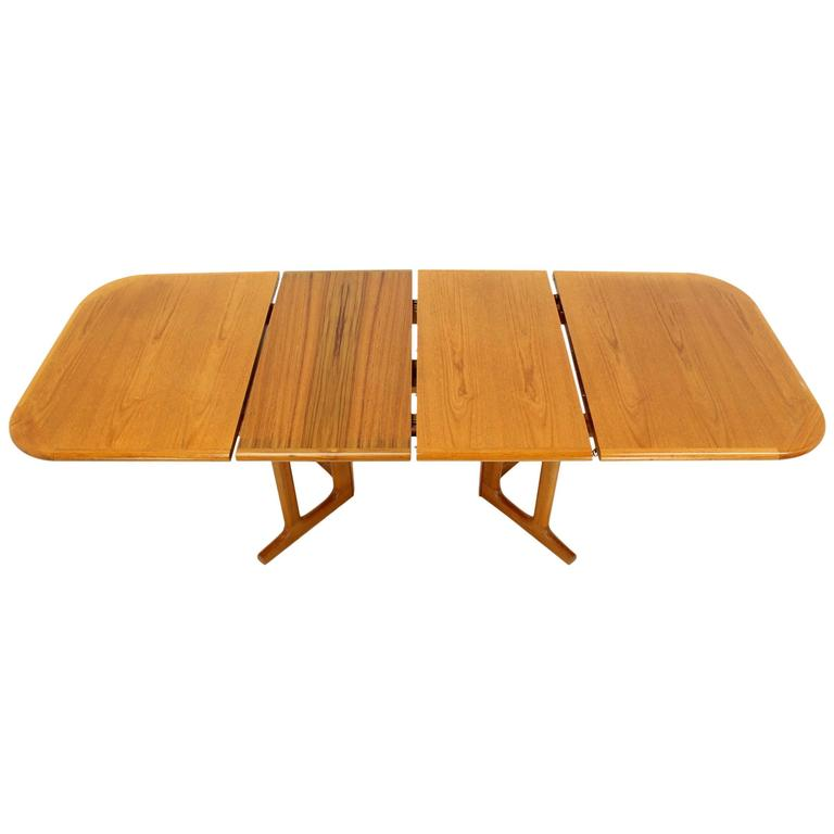 Danish Modern Rectangle Shape Teak Dining Table with Two  : 2964962l from www.1stdibs.com size 768 x 768 jpeg 21kB