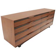 Long Teak Dresser Credenza by John Stuart