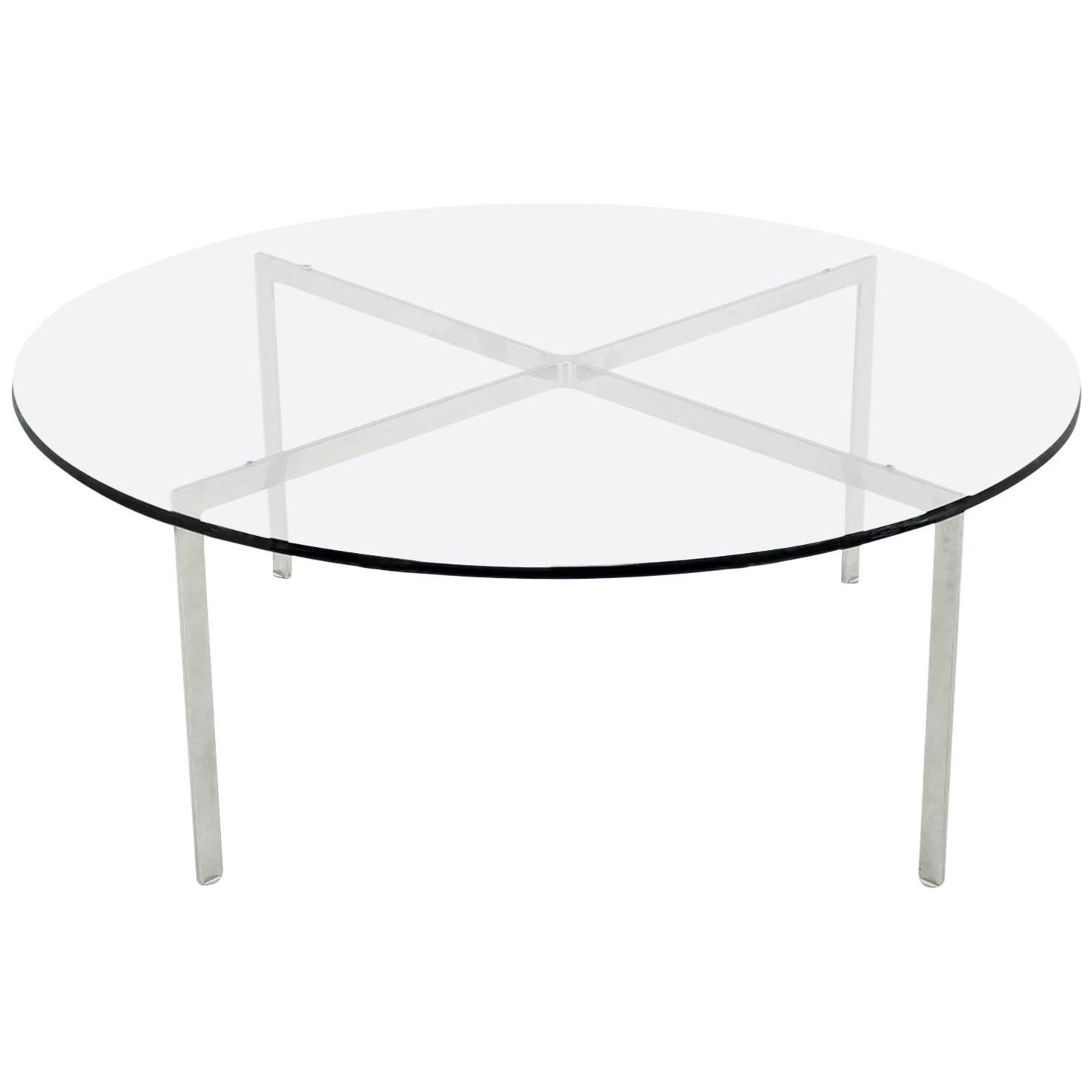 Mid Century Modern Chrome Base And Glass Top Coffee Table For Sale At 1stdibs