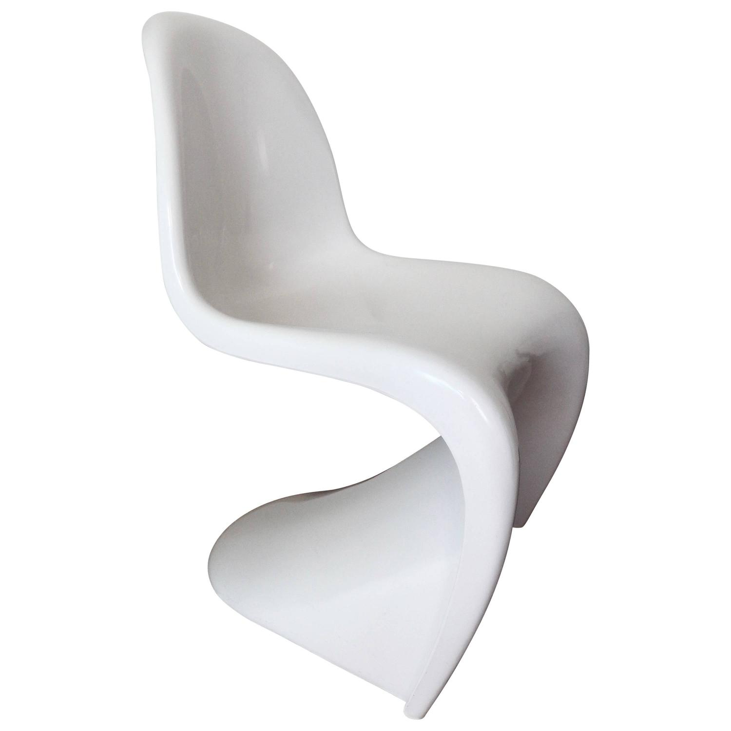 "1974 Verner Panton ""S"" Stacking Chair for Herman Miller Space Age"