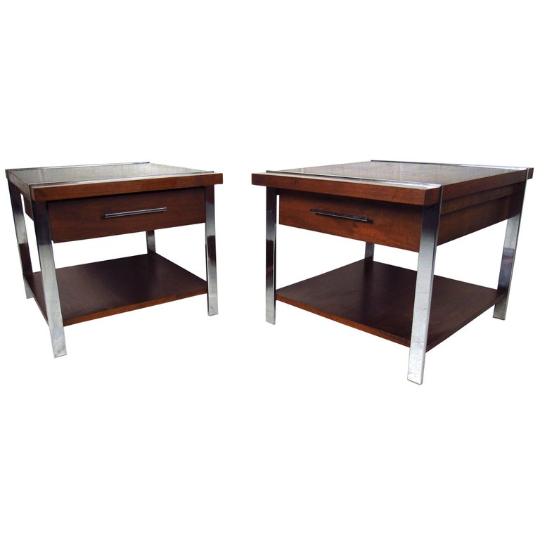 Mid-Century Modern End Tables by Lane Furniture For Sale