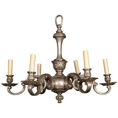 Silver Plated, Cast Bronze Chandelier
