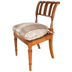 Elegant Art Deco Biedermeier Chair in Cherrywood
