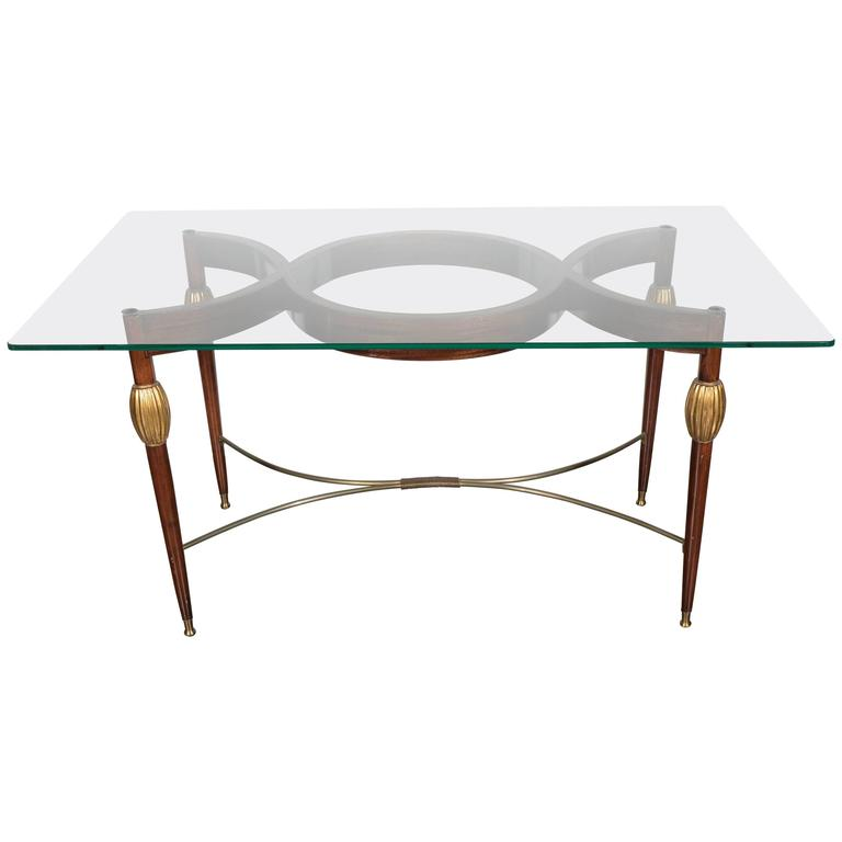 Mid-Century Modern Italian Cocktail Table in the Style of Gio Ponti, circa 1945