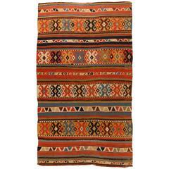 Antique Mid-19th Century Caucasian Kilim Carpet