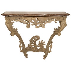 Stripped Louis XV Console with Original Marble
