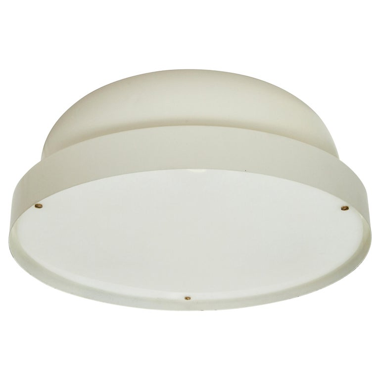 1950s Jacques Biny Ceiling Light for Luminalite For Sale