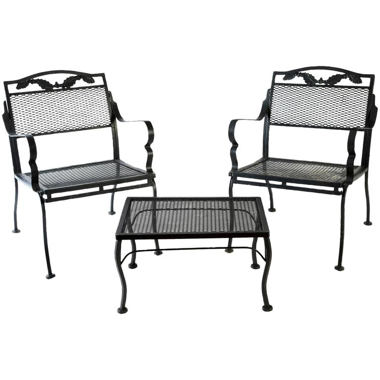 outdoor metal table and chairs for sale at 1stdibs