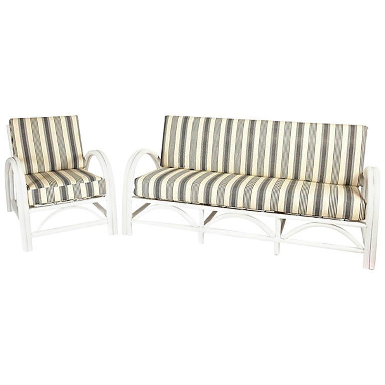 Bentwood Porch or Patio Sofa and Chair For Sale