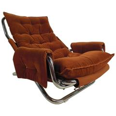 Vintage Modern Sling Style Lounge Chair