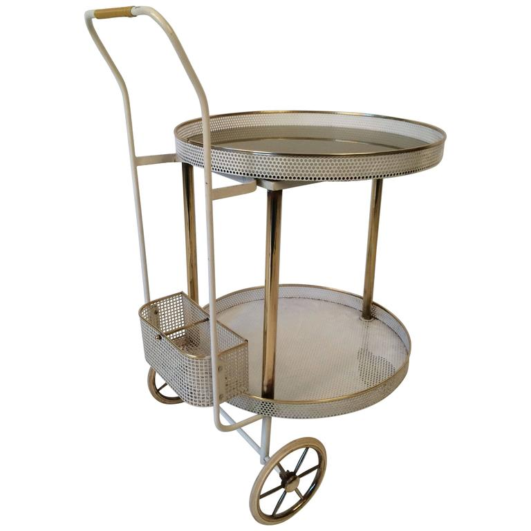 1960s Bar Trolley in the Style of Mategot