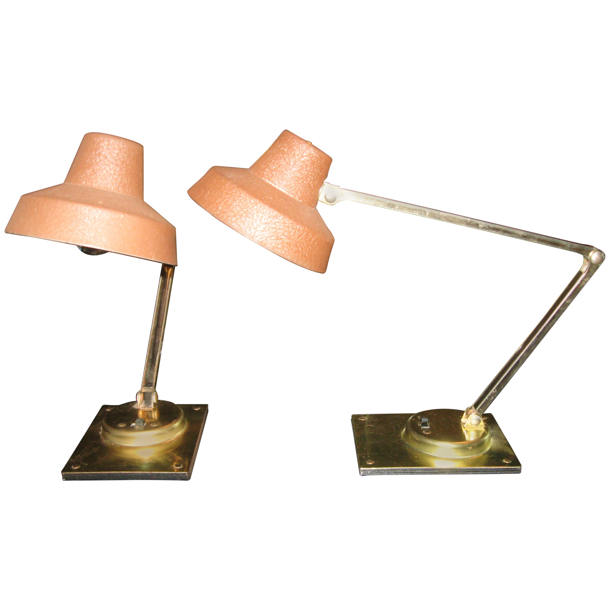 Pair of Midcentury Adjustable Lamps by Tensor