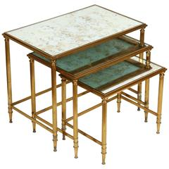 Maison Jansen Bronze Nesting Tables