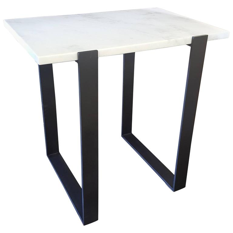 Tara Shaw Maison Modern Iron Console Table with Marble Top