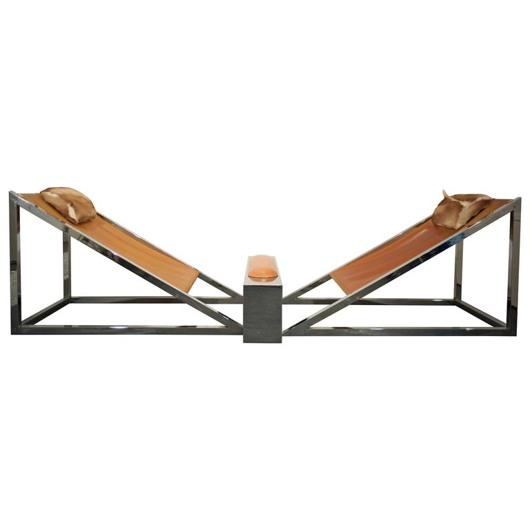 Pair Of Mies Lounge Chairs By Archizoom Associati With