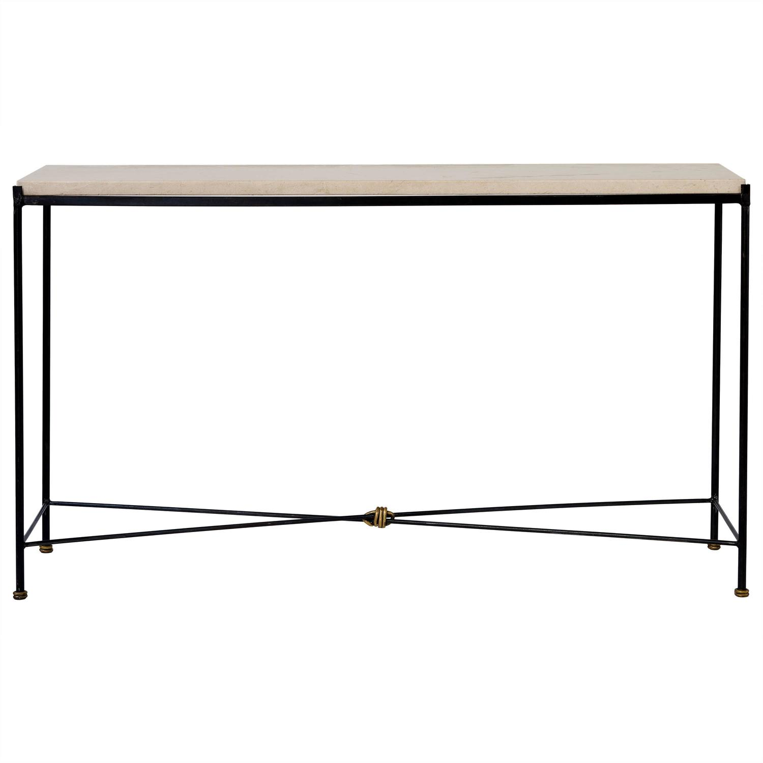 Tara Shaw Maison Iron Console With Stone Top For Sale At