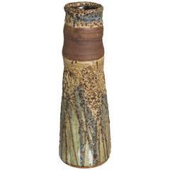 Tall Mid-Century Studio Ceramic Vase, Edna Arnow
