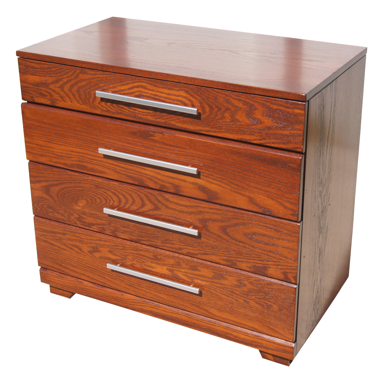 Low Oak Dresser by Raymond Loewy for Mengel