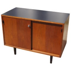 Small Walnut Cabinet by Florence Knoll for Knoll