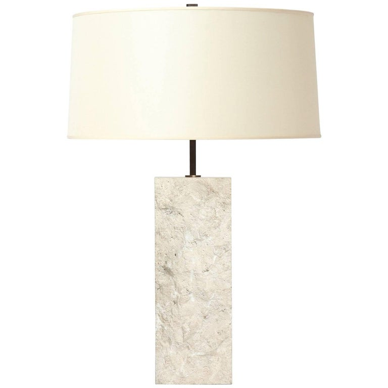 Limestone Table Lamp For Sale