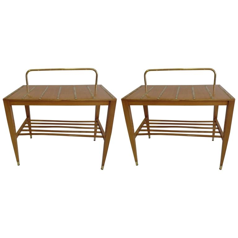 Pair of End Tables / Night Stands by Gio Ponti Made for the Hotel Royal For Sale