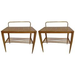 Pair of End Tables / Night Stands by Gio Ponti Made for the Hotel Royal