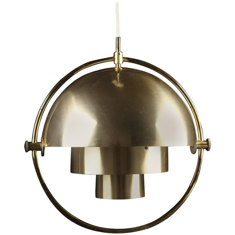 Original Multi-Light Pendant by Louis Weisdorf for Lyfa/ 4 available For Sale