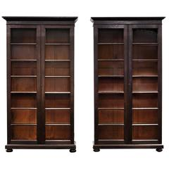 Pair of Anglo-Indian Glazed Display Cabinets or Bookcases