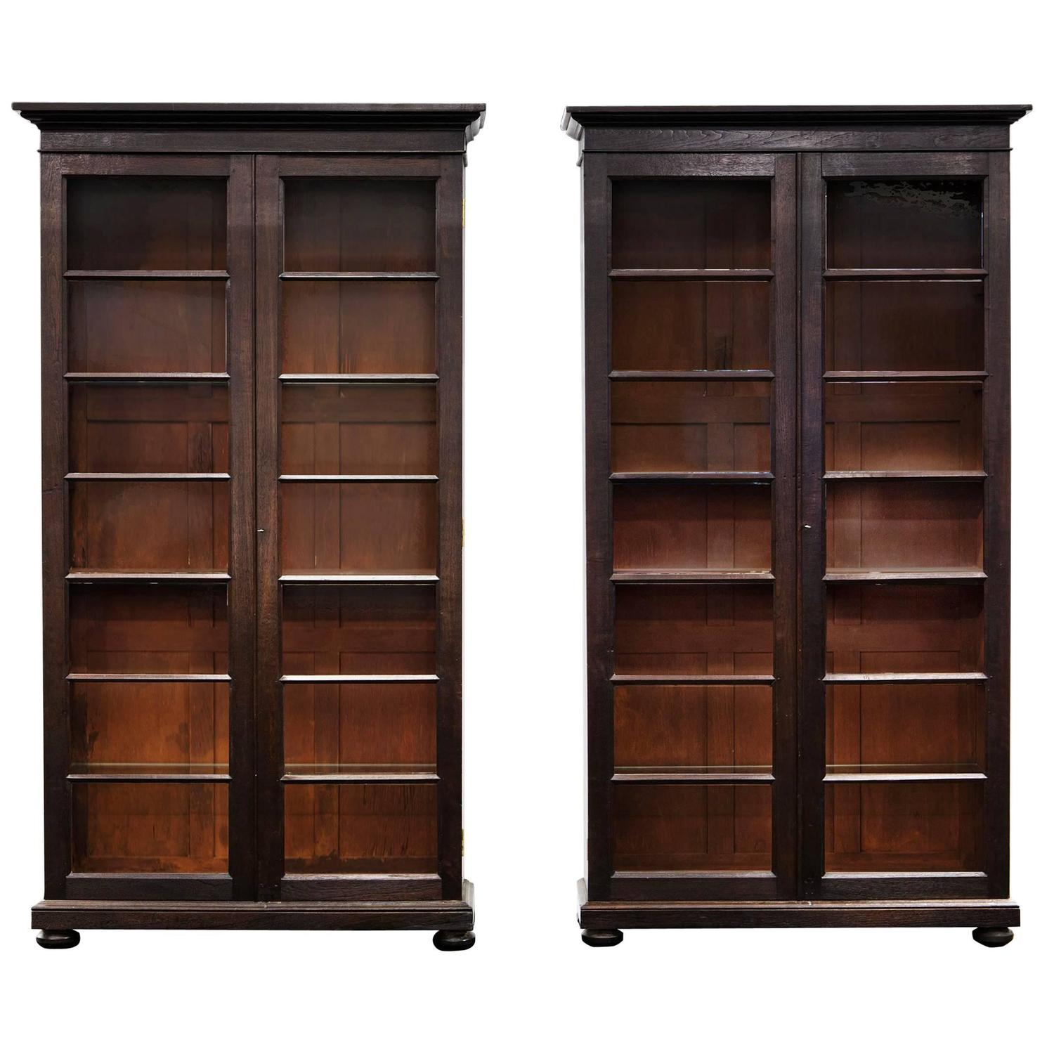 Pair Of Anglo Indian Glazed Display Cabinets Or Bookcases For At 1stdibs