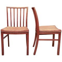 Danish Modern Side Chairs, Pair