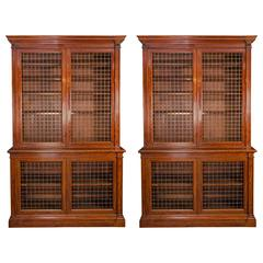 Fine Pair of William IV Mahogany Library Bookcases