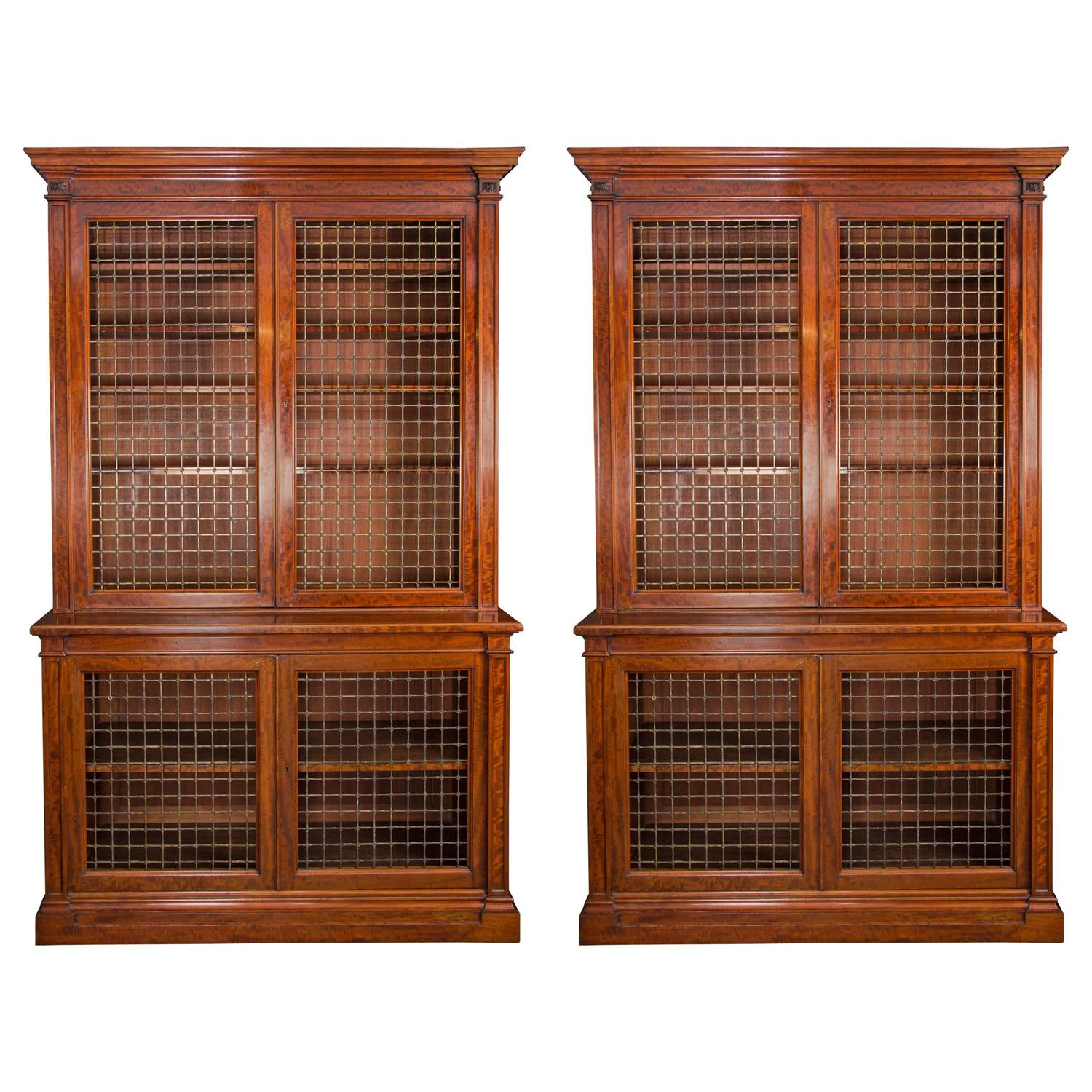 Fine Pair Of William IV Mahogany Library Bookcases For