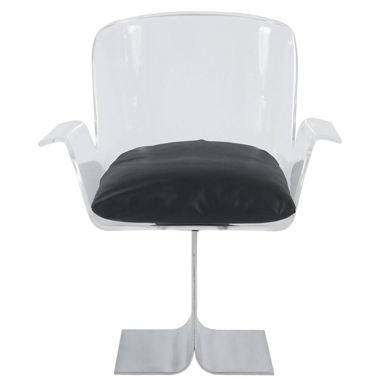 Lucite Armchair in the Style of Roger Tallon