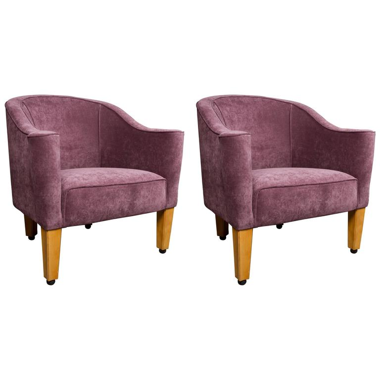 Pair of Josef Hoffmann Wiener Werkstatte Style Armchairs by Wittmann, Austria