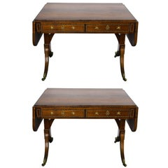 Pair of Regency Period Rosewood Sofa Tables