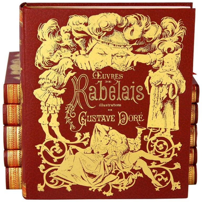 "Set of Six Books ""Oeuvres de Rabelais"", France, 1971"