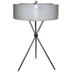 Robsjohn-Gibbings Chromed Tripod Table Lamp for Hansen