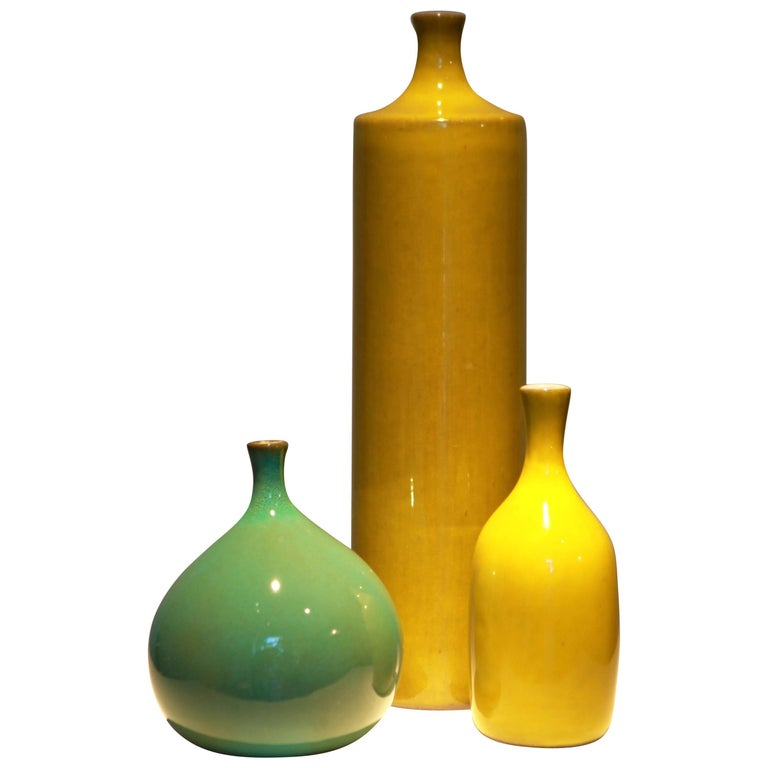 Jacques and Dani Ruelland, Group of Three Vases For Sale