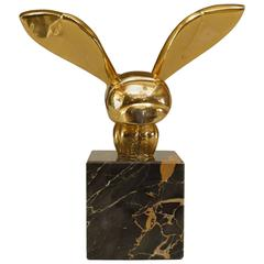 Small American Brass Bee Sculpture after G. Lachaise