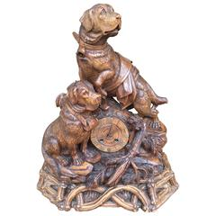 Late 19th Century Black Forest Dog Clock