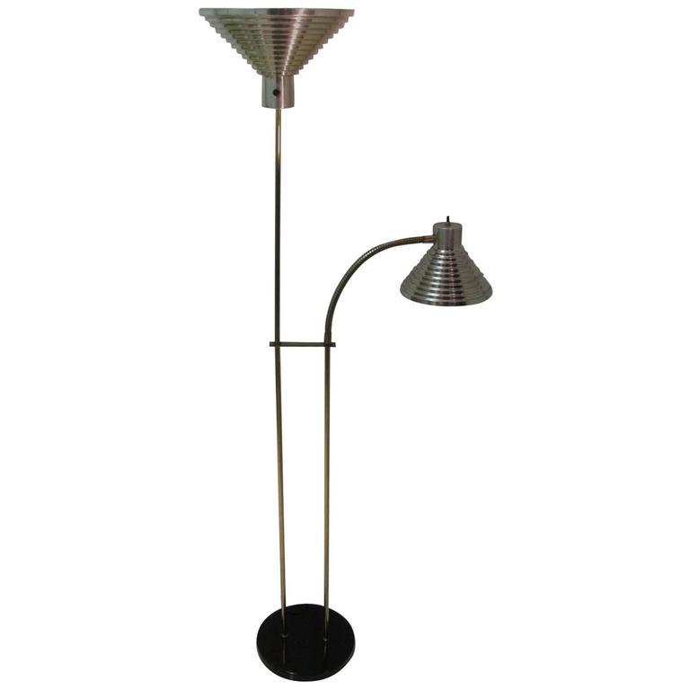 Mid Century Reading Lamp: Mid-Century Modern Torchiere Reading Lamp Style Of Kurt