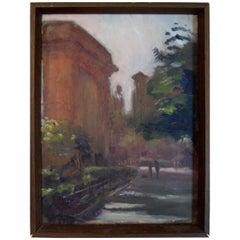 Anthony Springer 1970s Washington Square Painting