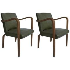 Pair of Petit Thonet Bentwood Armchairs