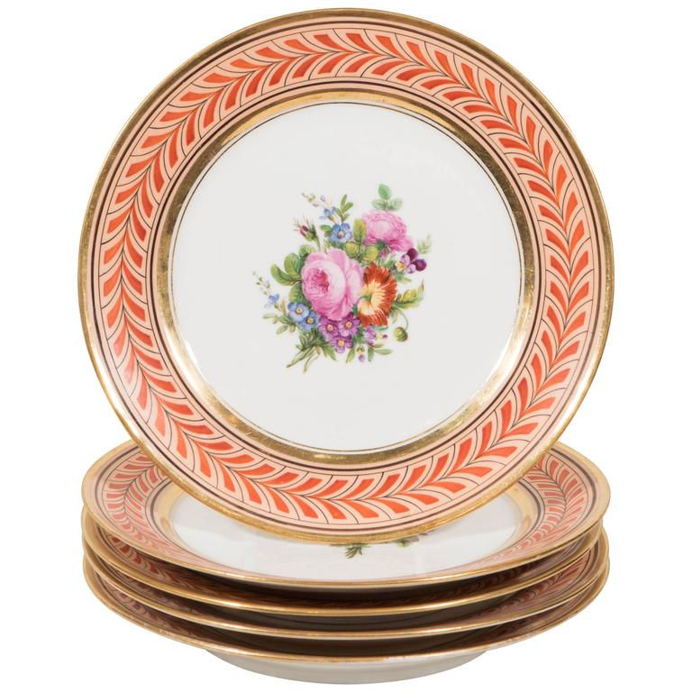 Antique French Porcelain Plates Edouart Honore IN STOCK For Sale  sc 1 st  1stDibs & Antique French Porcelain Plates Edouart Honore IN STOCK For Sale at ...